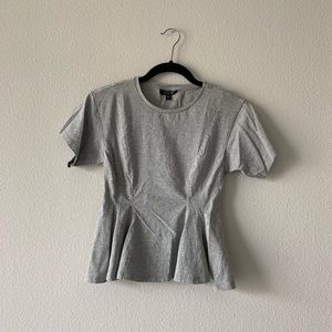 TOPSHOP/ peplum grey tee